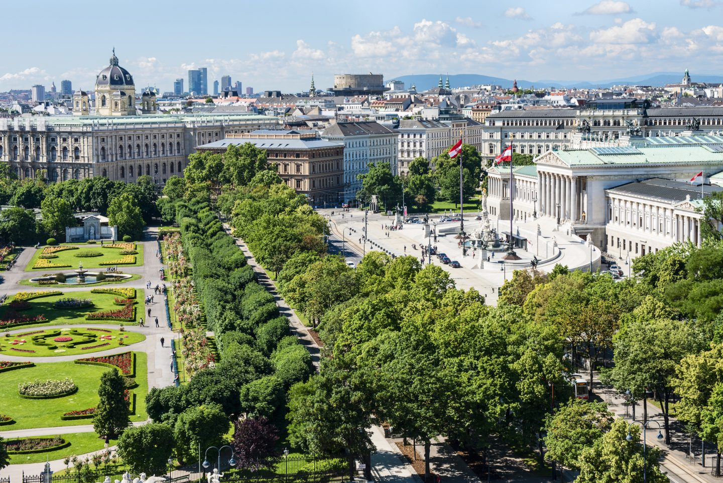 © WienTourismus Christian Stemper, View of the Ringstrasse Parliament