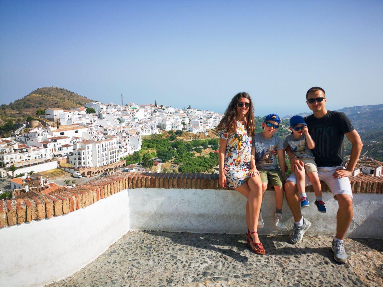 Frigiliana with kids. Beautiful white village of Malaga